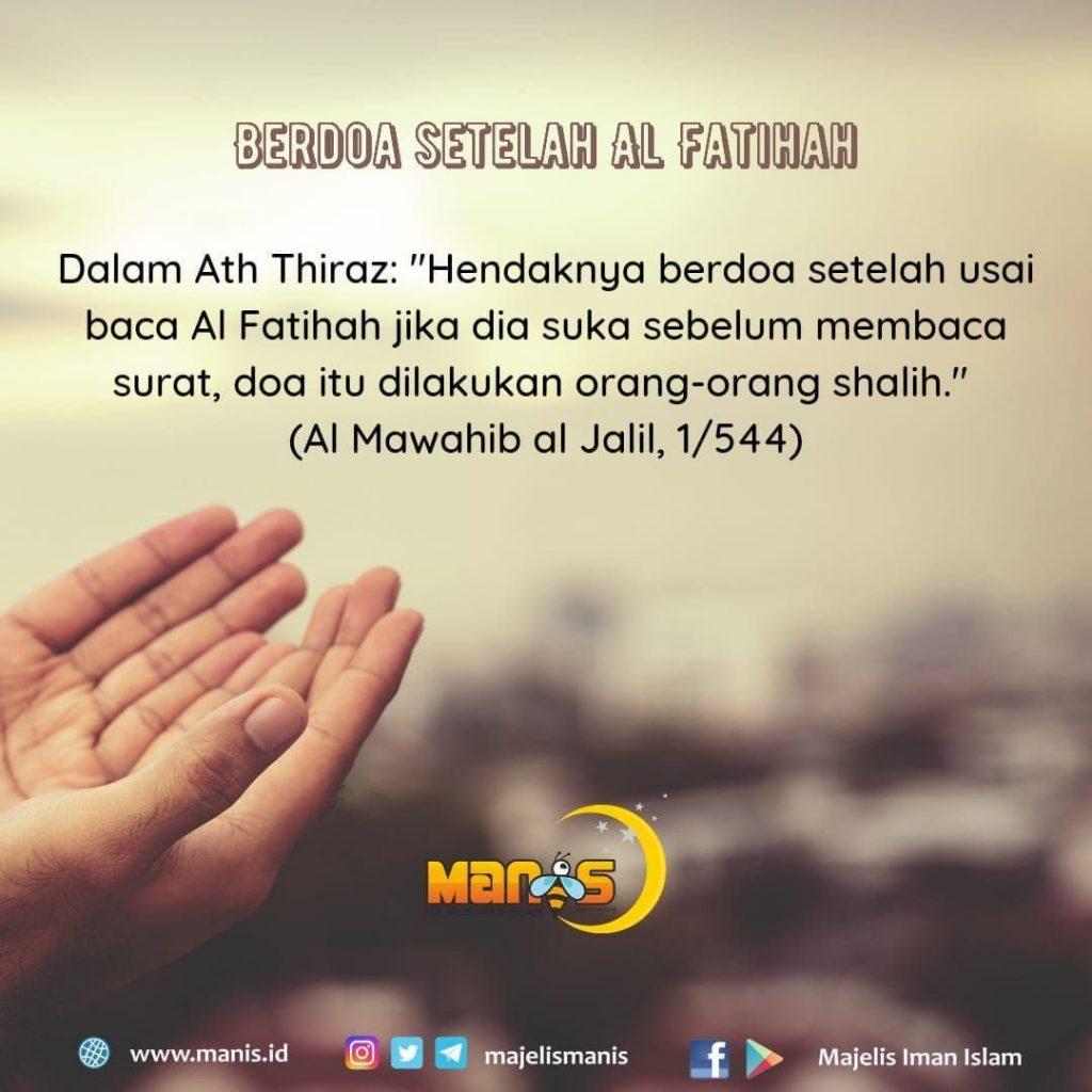 berdoa setelah membaca alfatihah